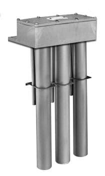 直立三管防腐蚀钛加热器