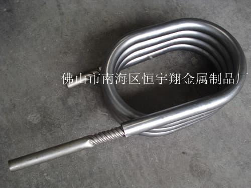 钛螺纹套管换热器