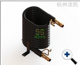 水源热泵用同轴换热器(双系统)