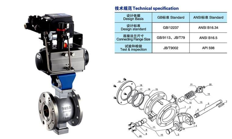 上海供应气动V型调节球阀专业技术