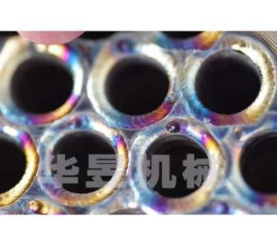 缠绕管式换热器管板氩弧脉冲焊