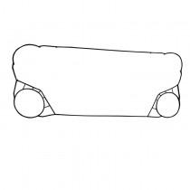 换热器胶垫 耐高温板式换热器胶垫 丁腈冷式器换热器橡胶垫