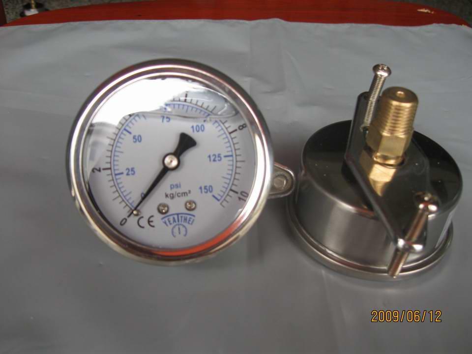 60MM轴向带支架油压表