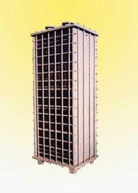 矩形块孔式石墨换热器